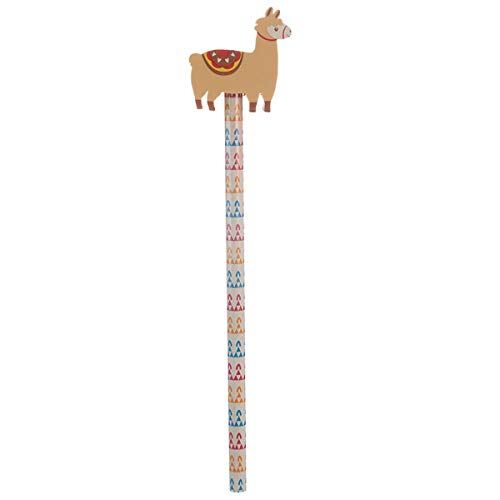 Oh My Llama Pencil with Eraser Topper