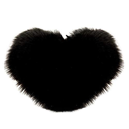 Skang Almohada en forma de corazón de felpa de color sólido de 40 x 50 cm, almohada de regalo para el hogar, sofá, dormitorio, sala de estar.