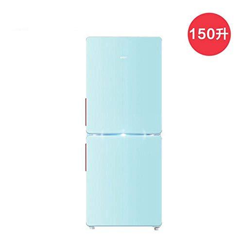 MYYQ Refrigerador de Doble Puerta refrigerado por Aire 150L refrigerado por Aire pequeño hogar refrigerado Retro de Dos Puertas silencioso de Ahorro de energía