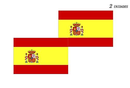 Acobonline Bandera España Grande, Pack 2 Bandera de España, Resistente a la Intemperie, 90 x 150 cm