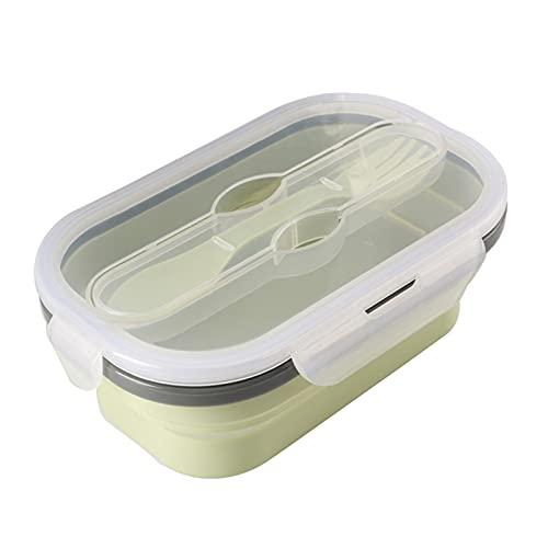 XXY Caja De Almuerzo Plegable De Silicona Portátil Plegable Durable Ensalada Alimento Recipiente Recipiente Tazón De Vajilla Accesorios De Cocina (Color : 02)