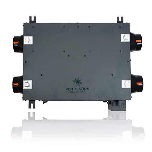 HRVU DHV-15B Wärmerückgewinnung Belüftung HRV Vollsystem HRVU DHV-15B Einheit oder Kit für 2 bis 10 Räume - Hohe Effizienz Zwei-Wege-Heizung und Feuchtigkeitsregulierung - für saubere, grünere Häuser