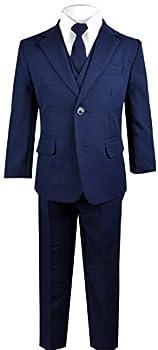 black tie navy suit