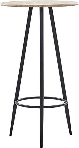 Tabla de bolas Mesa de centro de mesa trasera trasera contador redondo barra de madera cocina desayuno bar,Wood color