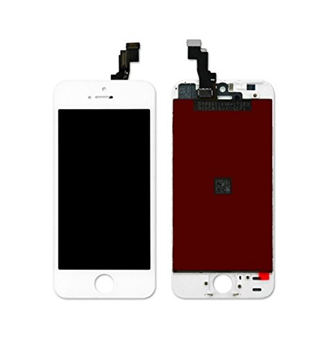 MrSpares LCD Display + Touch Screen Digitizer Assembly Compatible for iPhone 5S : White