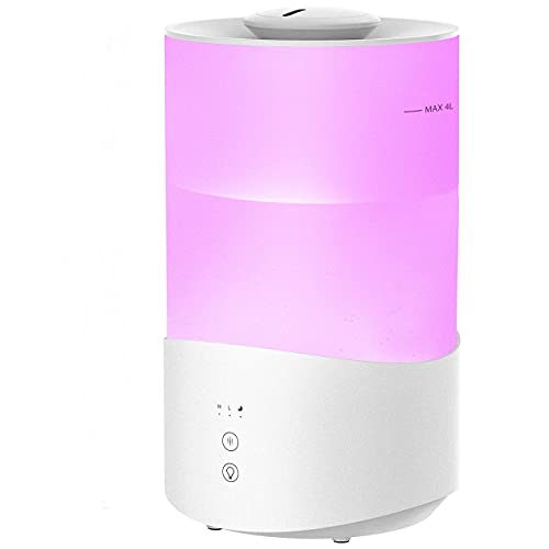 4L Humidifiers for Bedroom, 7-Color Night Light Cool Mist Humidifiers...