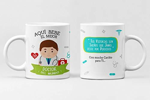 Taza Profesiones. Taza de cerámica Aqui Bebe el Mejor. Abogado, administrativo, Arquitecto, Bombero, Cantante, Chef, Contador, diseñador, Doctor, economista. (Doctor)