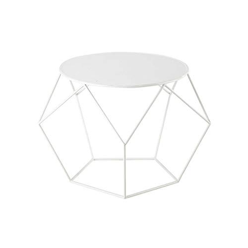 BHJqsy Nordic Tisch Wohnzimmer Schlafzimmer Bett runden kleinen couchtisch schmiedeeisen Rahmen schwarz weiß optional...