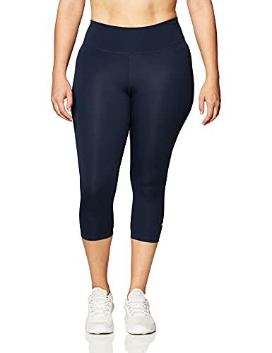 NIKE Leggings Capri para mujer, color obsidian/blanco, talla S