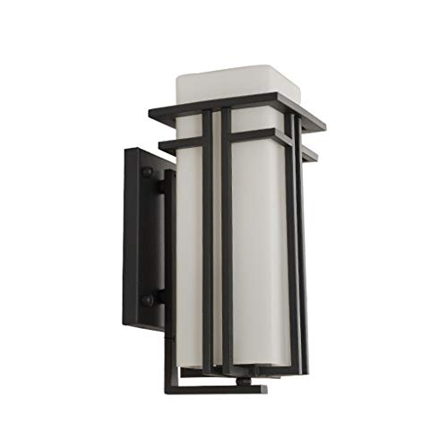 Lizhiqiang Buitenwandlamp, industriële vintage, waterdichte wandlamp, terras, buitenwand, villa, deur, binnenplaats, balkon, gang, deur, zwart