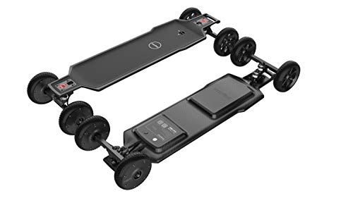 maxfind Electric Skateboard with Wireless Remote Control,FF Plus 38 Inch【Dual 1200W Motor Edition】 Off Road Electric Long Skateboard for Adults, Have a Portable Handle Design for Easy to Carry.