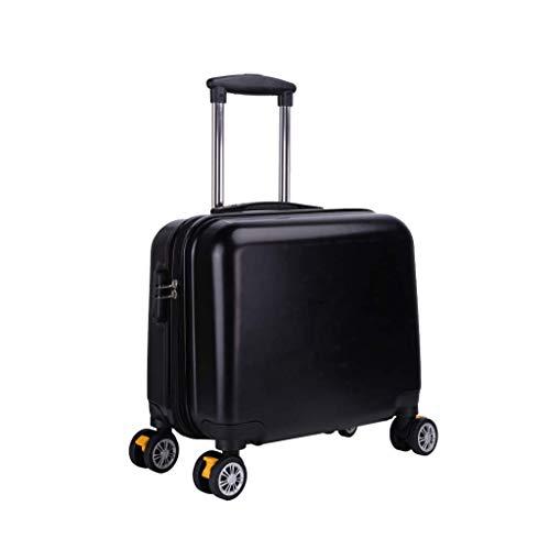 Nosterappou Maletero con mini embarque de 18 pulgadas, oficina portátil de negocios para estudiantes, cinturón de transporte liviano, maleta pequeña, caja de contraseña para equipaje, carcasa de ABS r
