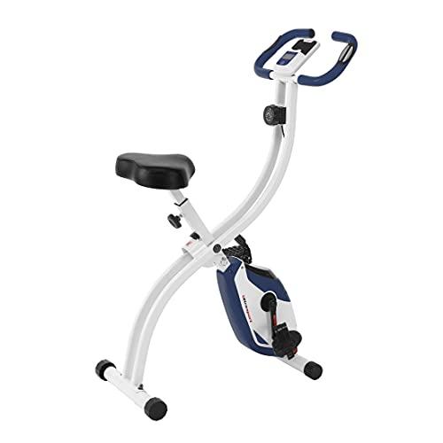Ultrasport F-Bike 150 estática Mano, Bicicleta Fitness con Consola y sensores de Pulso en Manillar, Plegable, sin Respaldo, Unisex, Azul Marino