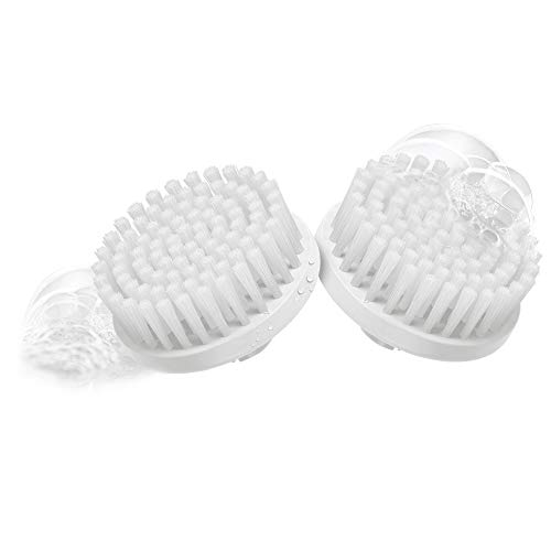 Braun 80 Face - Set de 2 recambios de cepillo facial de limpieza para depiladora facial, color blanco