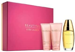 ESTEE LAUDER BEAUTIFUL Romantic Favorites :Eau de Parfum Spray 2.5fl.oz./75ml +Perfumed Body Lotion 2.5fl.oz./75ml + Bath & Shower Gelee 2.5fl.oz./75ml .