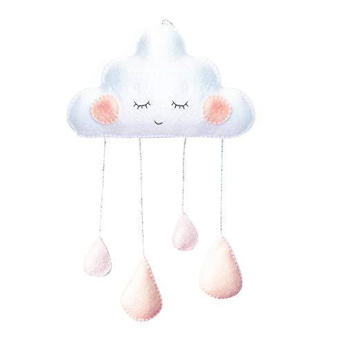 SpirWoRchlan Kinderzimmer Dekoration Wolken Regentropfen Hängende Deko Babyparty Baby Geburtstage (3#)