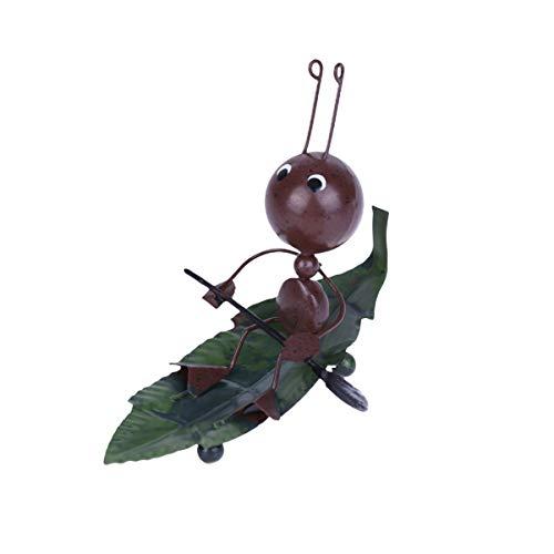 VOSAREA Estatua de la Hormiga Adornos de Animales de Metal Adornos para el hogar Figuras Barco Modelo de Barco para la Sala de Oficina en casa decoración de la Mesa
