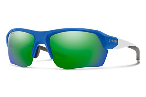 Smith Tempo Max Sunglasses, Matte Klein Blue / ChromaPop Sun Green Mirror / Contrast Rose, Smith Optics Tempo Max ChromaPop Sunglasses