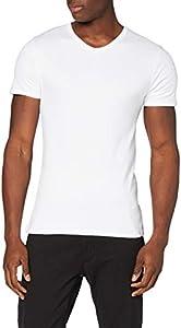 Abanderado Termal algodón Invierno Cuello uve Camiseta térmica, Blanco (Blanco 001), Large (Tamaño del Fabricante:L/52) para Hombre