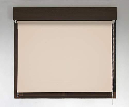 Estor TÉRMICO Opaco Premium (Desde 40 hasta 300cm de Ancho, no Permite Paso de la luz y sin Visibilidad Exterior). Color Beige. Medida 78cm x 180cm para Ventanas y Puertas