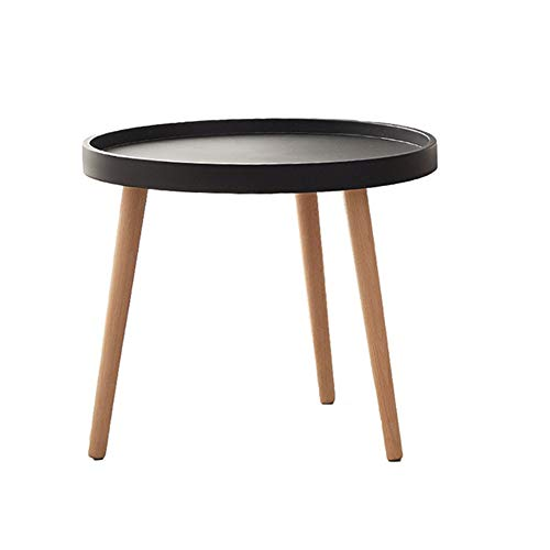 ZCPDP Small Round Table Sofa Side Table Mobile Side Table Simple Modern Mini Coffee Table Bedroom Bedside Table Minimalist