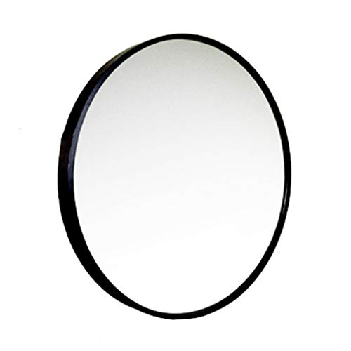Espejo montado en la Pared Marco de Metal Negro Redondo Espejo HD Maquillaje Baño Espejo de Pared con un Kit Completo Creativo Moderno Diámetro 30cm-80cm