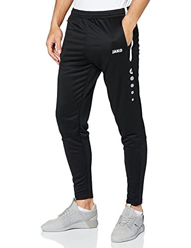 JAKO, Pantaloni da Allenamento Uomo Active, Nero (Schwarz/Weiß), L