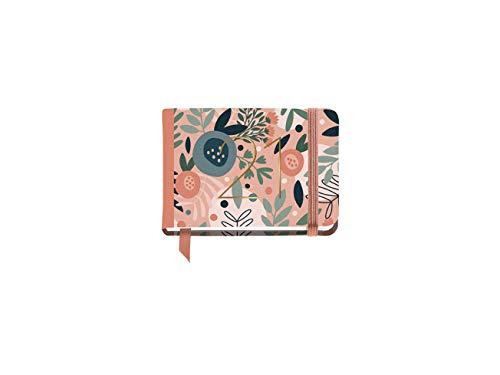 MIQUELRIUS - Agenda 2021 Pink Forest - Español, Semana Vista, Papel 70g, Cubierta Rígida Cartón, Color Flores Rosa, Tamaño 105 x 74 mm