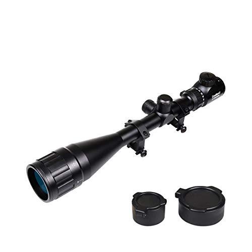 Goetland 6-24x50 AOEG Zielfernrohr Gewehrzielfernrohre Rot & Grün Punkt mit Halterung für Taktische Jagd