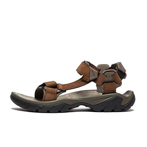 Teva Herren Terra Fi 5 Universal Leather Mens Sandalen, Braun (Carafe Cara), 44.5 EU
