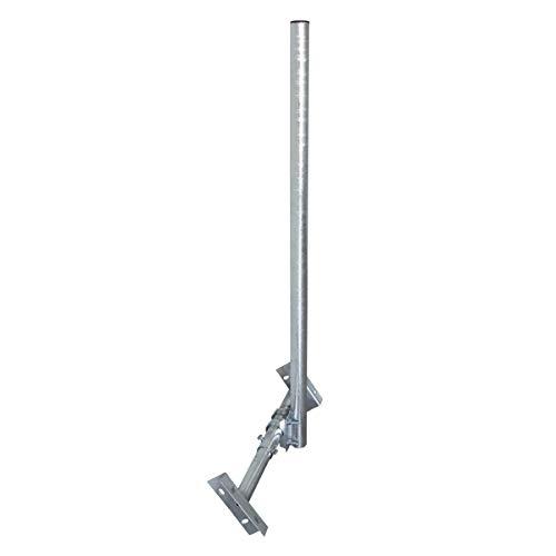 PremiumX Basic X120-48F SAT TV Dachsparrenhalter 120cm Mast 48mm Stahl voll feuerverzinkt Dachsparren-Halter für Satellitenantenne Satellitenschüssel mit Kabeldurchführung