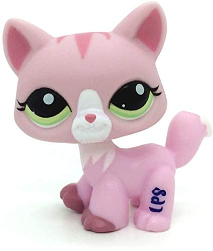Greneric LPS Toy Rare Cat Kitty Pink Animal Figure Girl Toys Littlest Pet Shop