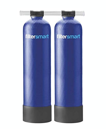Filtersmart Whole House Water Filter System & Salt Free Water Softener Combo, Filters Chlorine & Sediment Filtration for 1-3 Baths, 7 GPM, 1 Million Gallons