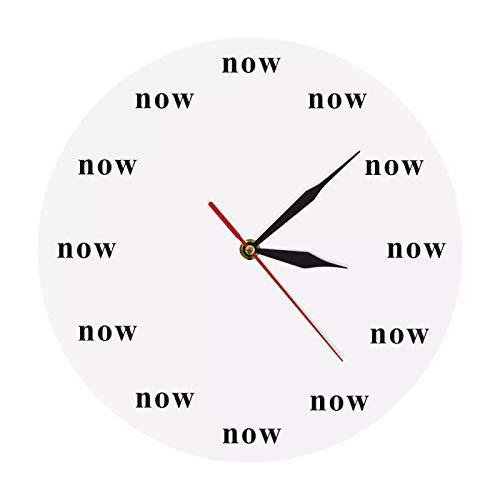 Wanduhr Zeit ist jetzt Ikone Wanduhr jetzt Zeit Motivierende Uhr Ihre tägliche Erinnerung daran, im Jetzt zu Leben Schätzen Sie Ihre Zeit Kinder Geschenk