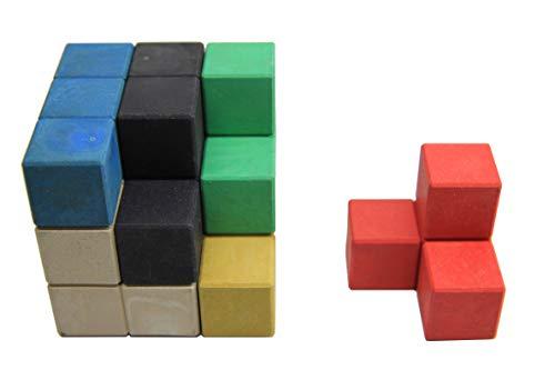 WISSNER aktiv lernen - SOMA Würfel 7 farbige Elemente - RE-Wood