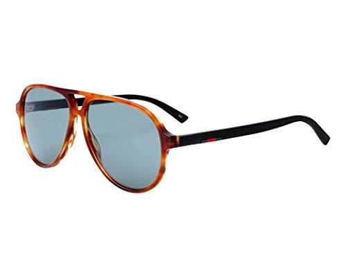 Gucci GG0423S-005-58 Gafas, Havana/Matte Schwarz, 58.0 Unisex Adulto