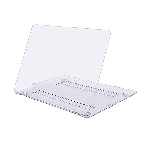 MOSISO Custodia Rigid Compatibile con MacBook Air 13 Pollici A1369 A1466 2010-2017 Case Cover in Plastica Dura Shell Rigida Copertina, Chiaro/Cristallo