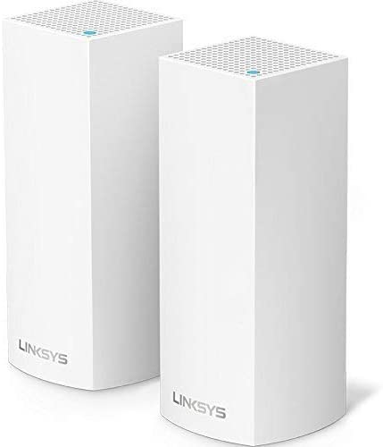 Linksys WHW0301-RM2-2PK Velop Mesh WiFi System Tri-Band AC4400, White, 2-Pack (Renewed)
