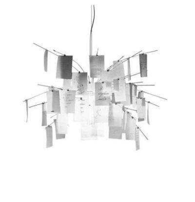 Ingo Maurer Zettel'z 5 Pendelleuchte, weiß Papier 230 Volt Ø 120cm, Hängeleuchte