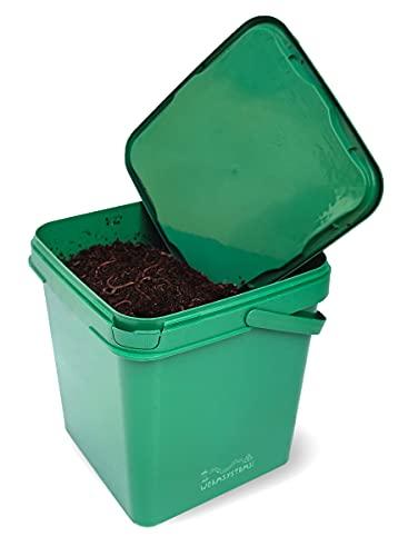 500 Kompostwürmer inkl. 4 Liter Mikrobiomsubstrat…