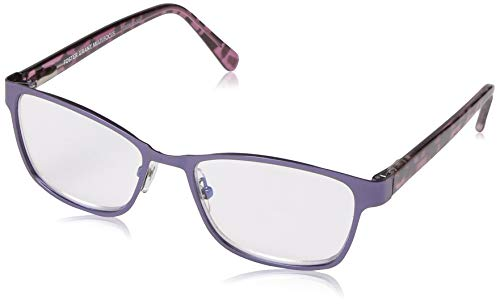 Foster Grant Women's Tierney Multifocus Cat-Eye Reading Glasses, Purple/Transparent, 53 mm + 2.75