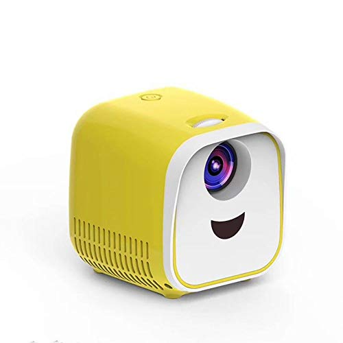 Home Projector, Portable, Outdoor Mobile Phone With Screen Projector, Home Theater, Mini,Hd (yellow)