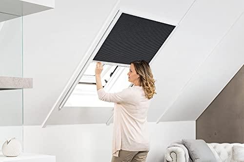 empasa Sonnenschutzplissee Dachfenster Sonnenschutz Plissee MASTER SUN in den Größen 80 x 160 cm 110 x 160 cm und 160 x 180 cm in weiß oder silber Selbstbausatz