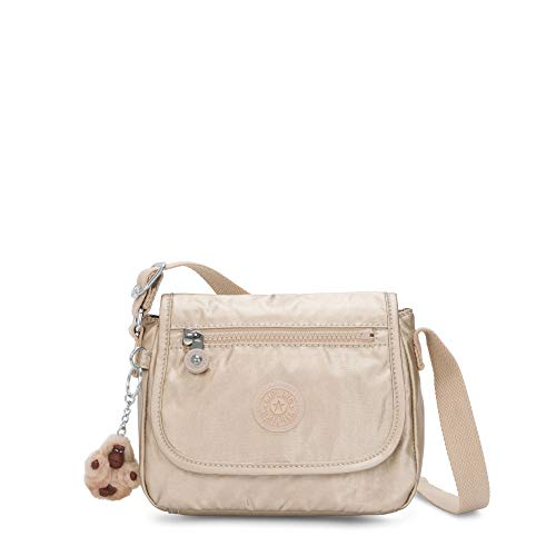 Kipling Sabian Metallic Crossbody Mini Bag Starry Gold Metallic