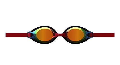 arena(アリーナ) 水泳 ゴーグル グラス ジュニア クッションタイプ フリーサイズ AGL-710JM オレンジ×ブラック×スモーク×レッド(OBRD) くもり止め ミラー加工