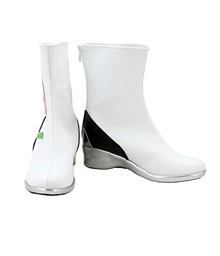 Allten Womens OW D.VA White Ankle Boots Shoes Cosplay Costume (10 M US Female)