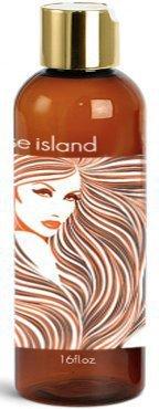 Paradise Island Shampoo 16 oz, Sulfate Free, High Lathering, No Parabens, Phthalates, Dyes, Endocrine Disruptors, SLS Free, Vegan, Natural (Tropical Paradise 16 oz)