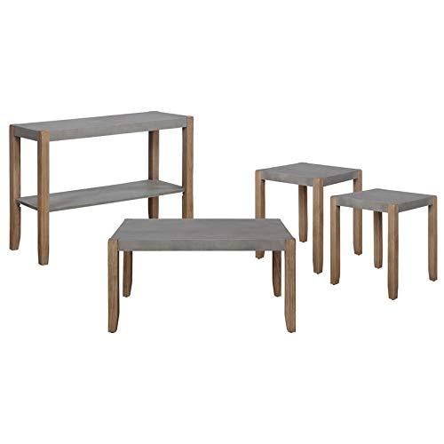 Alaterre Furniture Newport Wohnzimmer-Set, Beton-Grau