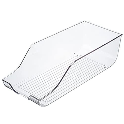LQKYWNA Caja De Almacenamiento para Refrigerador, Organizador De Plástico Transparente para Nevera para Bebidas Enlatadas, Cajón De Nevera, Contenedor De Cesta Colectora