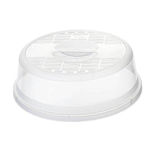 Rotho Basic Mikrowellenabdeckhaube, Kunststoff (PP) BPA-frei, transparent, 28,5 x 28,5 x 9,2 cm